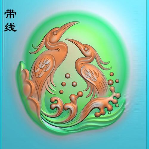 白鹭鸶精雕图(GJH-008)