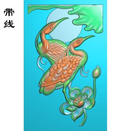 仙鹤松鹤精雕图(GJH-015)