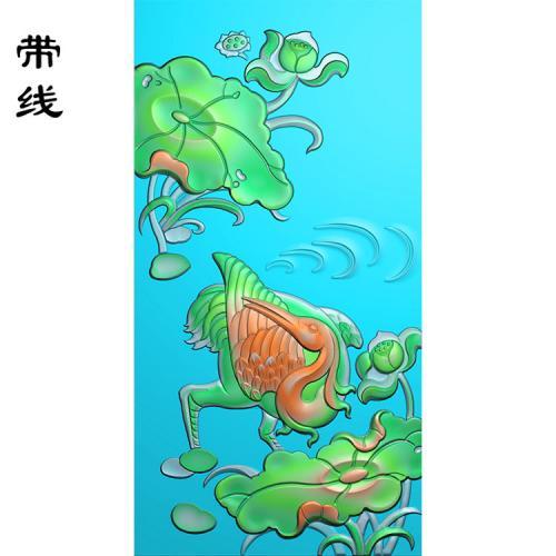 仙鹤松鹤精雕图(GJH-016)