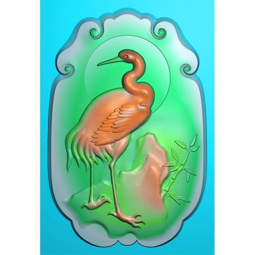 玉雕挂件松鹤精雕图(GJH-022)