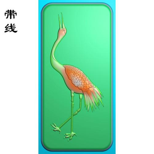 玉雕挂件松鹤精雕图(GJH-024)