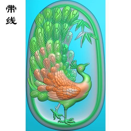 孔雀精雕图(GKQ-005)