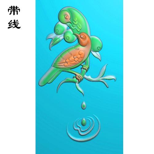 花鸟精雕图(QHN-002)