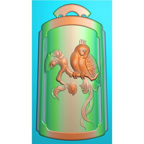 花鸟鹦鹉精雕图(QHN-002)