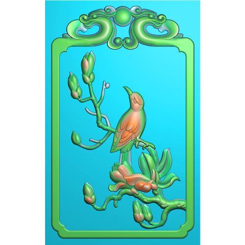 花鸟精雕图(QHN-005)