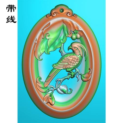 花鸟精雕图(QHN-012)