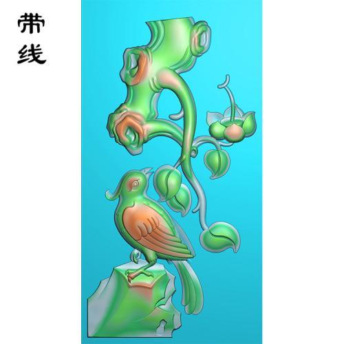 花鸟精雕图(QHN-013)