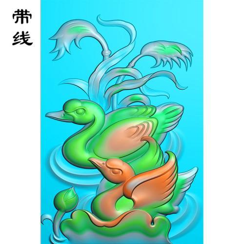 玉雕鹅鸿运当头精雕图(QHN-020)