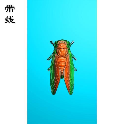 金蝉知了精雕图(GJC-023)