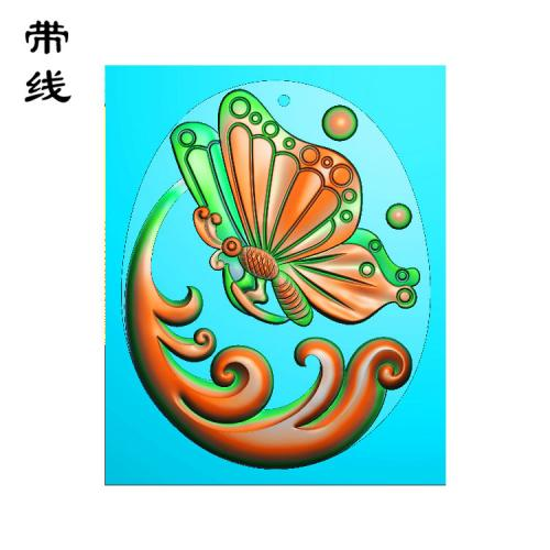 蝴蝶精雕图(QCL-004)