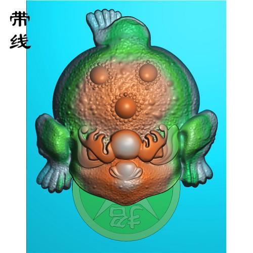 三脚金蟾精雕图(JC-004)