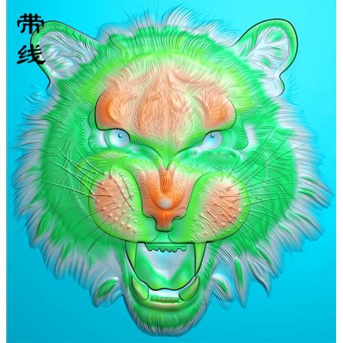 老虎头精雕图(GH-025)
