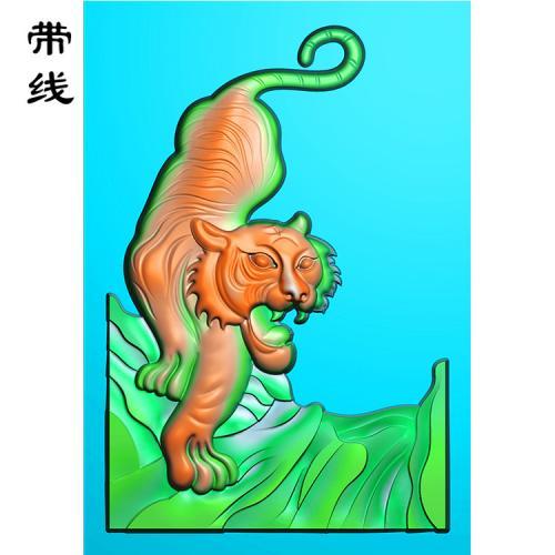虎精雕图(GH-029)