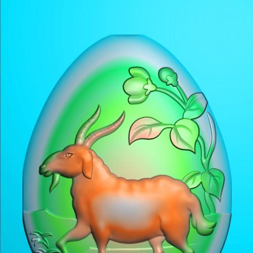 玉雕羊精雕图(GY-008)