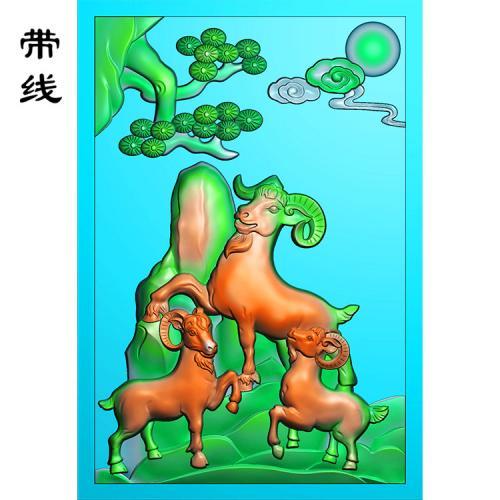 三阳开泰精雕图(GY-010)