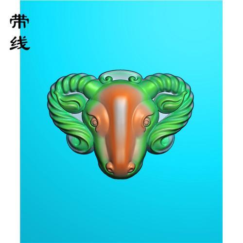 羊头精雕图(GY-018)