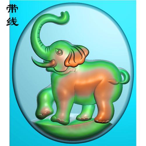 大象精雕图(GX-001)
