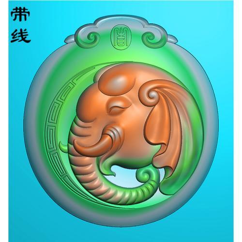 大象精雕图(GX-005)
