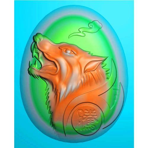 狼头精雕图(GL-010)