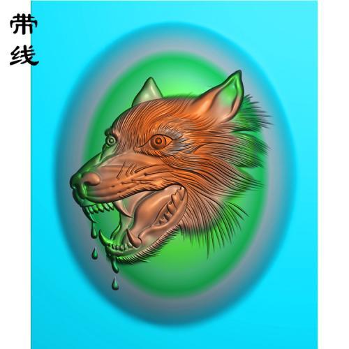 狼头精雕图(GL-002)