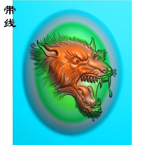狼头精雕图(GL-003)