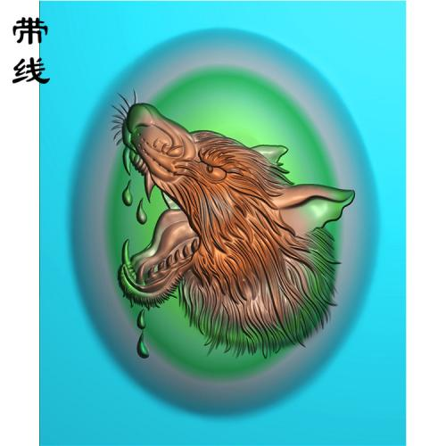 狼头精雕图(GL-004)