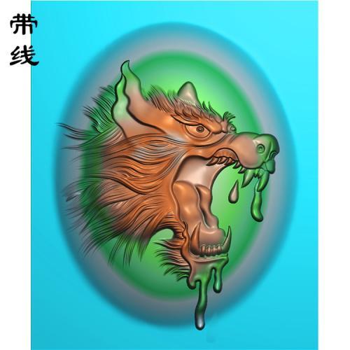 狼头精雕图(GL-005)