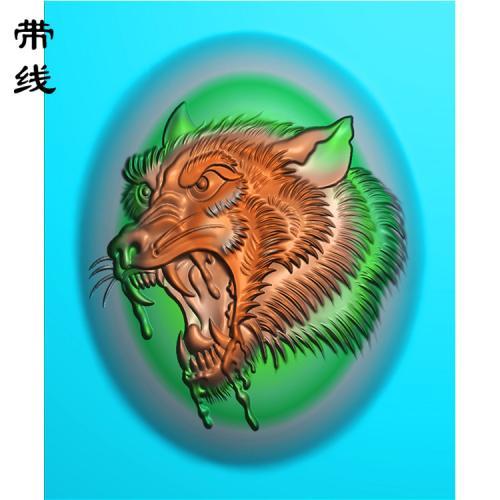 狼头精雕图(GL-006)