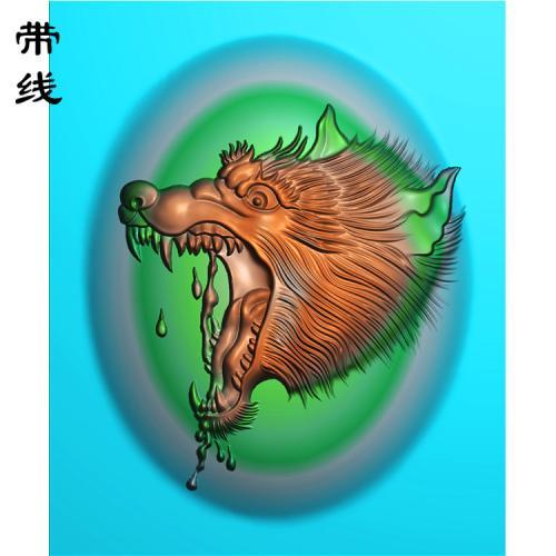 狼头精雕图(GL-007)