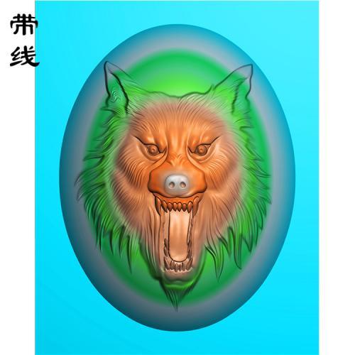 狼头精雕图(GL-009)