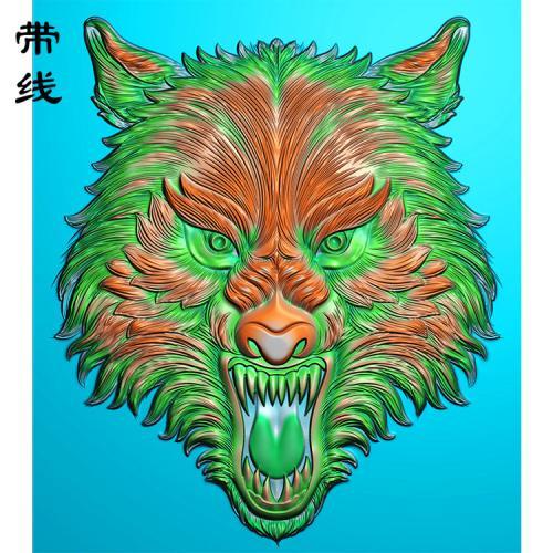 狼头精雕图(GL-001)