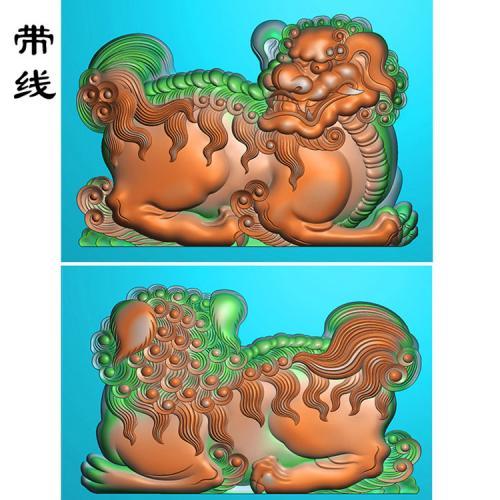 狮子精雕图(QDW-002)