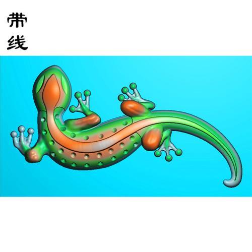 壁虎精雕图(QDW-006)