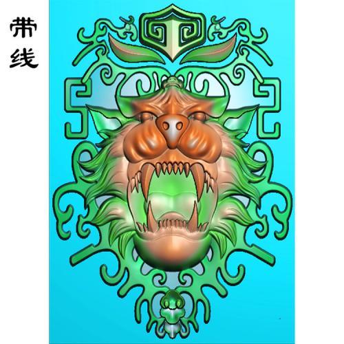 藏式狮子精雕图(QDW-007)