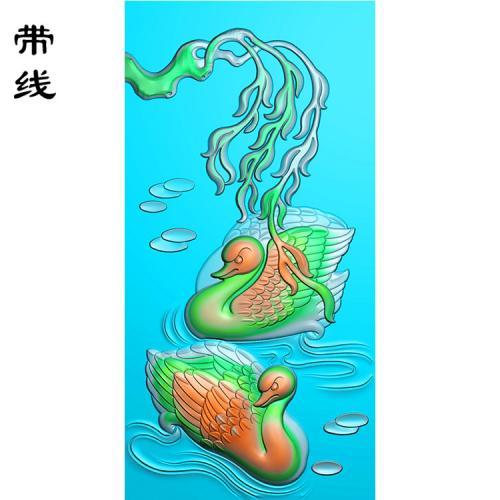 鹅精雕图(QDW-008)