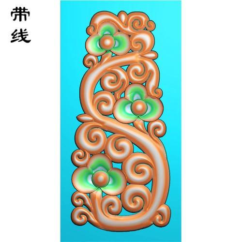 镂空草花挂件精雕图(LK0195)