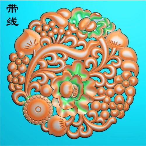 镂空草花挂件精雕图(LK0201)