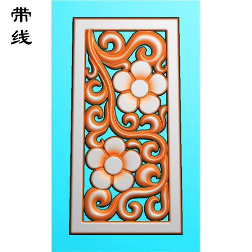 镂空草花挂件精雕图(LK0242)