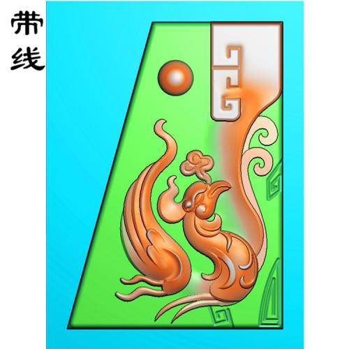 仿古龙挂件精雕图(FLF-042)