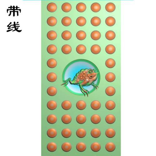 仿古金蝉乳丁牌精雕图(RDP-011)