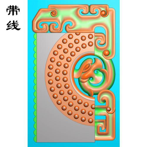 仿古龙乳丁牌精雕图(RDP-015)
