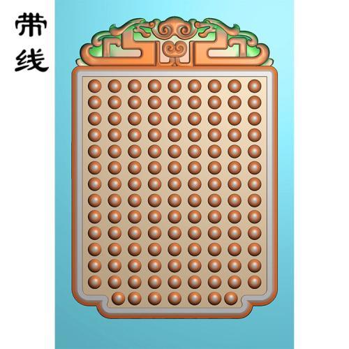 玉雕挂件松鹤祝寿乳丁牌精雕图(RDP-056)
