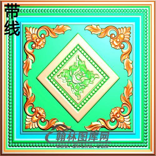 欧式方形洋花精雕图(FXH-062)