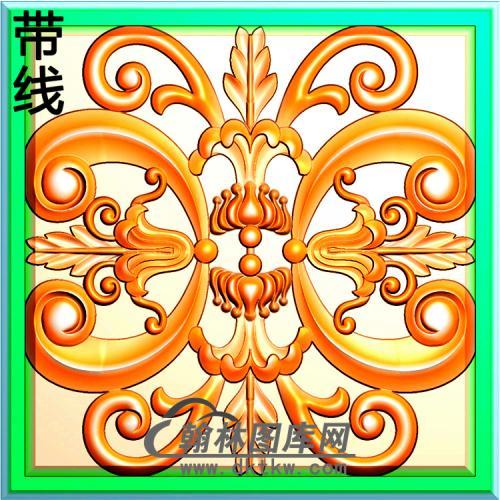 欧式方形洋花精雕图(FXH-065)