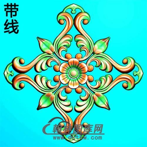 欧式方形洋花精雕图(FXH-131)