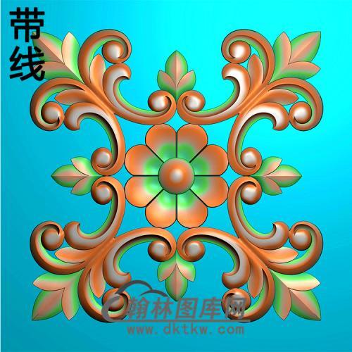 欧式方形洋花精雕图(FXH-150)