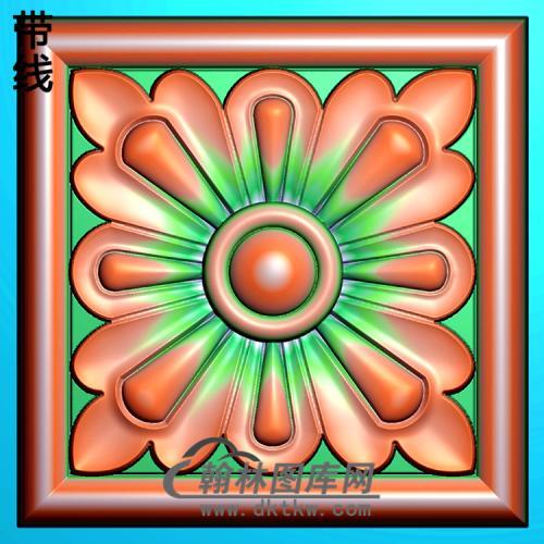 欧式方形洋花精雕图(FXH-177)