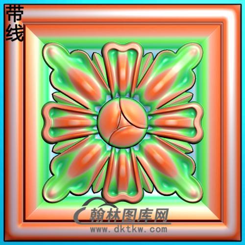 欧式方形洋花精雕图(FXH-186)
