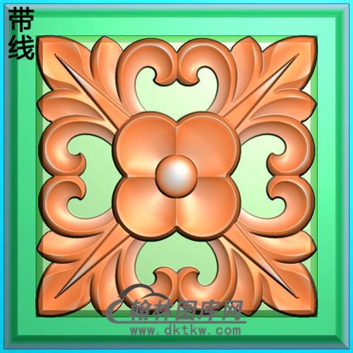 欧式方形洋花精雕图(FXH-194)