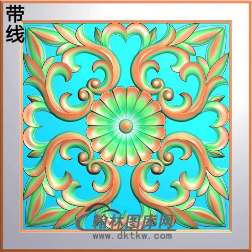 欧式方形洋花精雕图(FXH-196)
